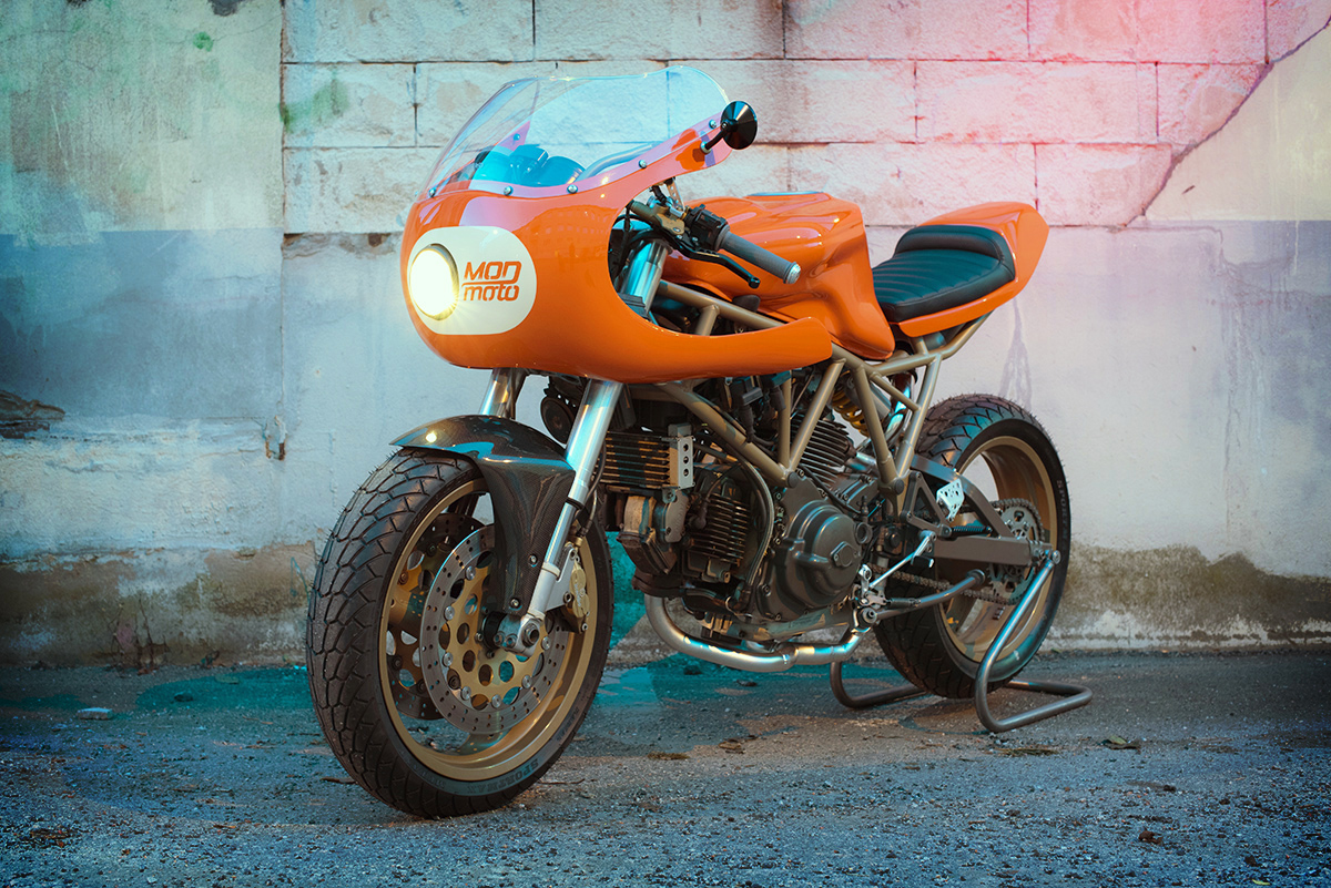 an orange crush - mod moto ducati 750ss | return of the cafe racers