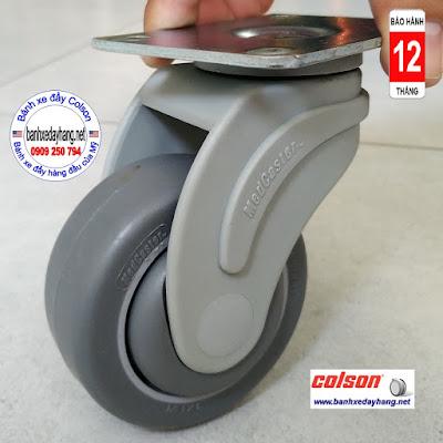 Bánh xe xoay 360 càng nhựa Colson 3 inch chịu tải nhẹ | STO-3856-448 www.banhxeday.xyz