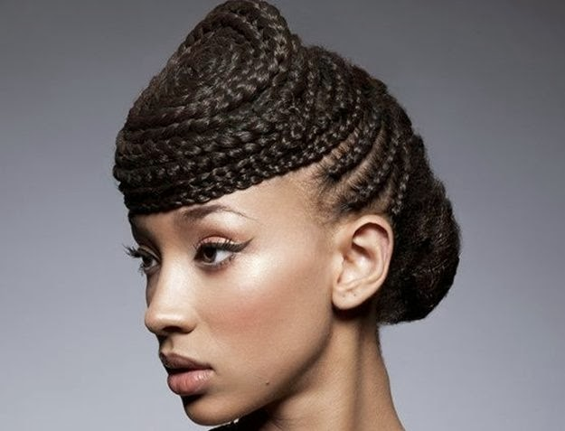 Peinados con trenzas pelo afro