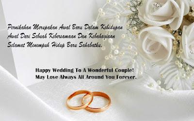 Ucapan Selamat Menikah atau Happy Wedding