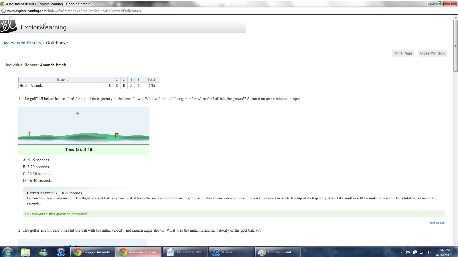Amanda Hsieh's Blog (Grade 11 Physics)