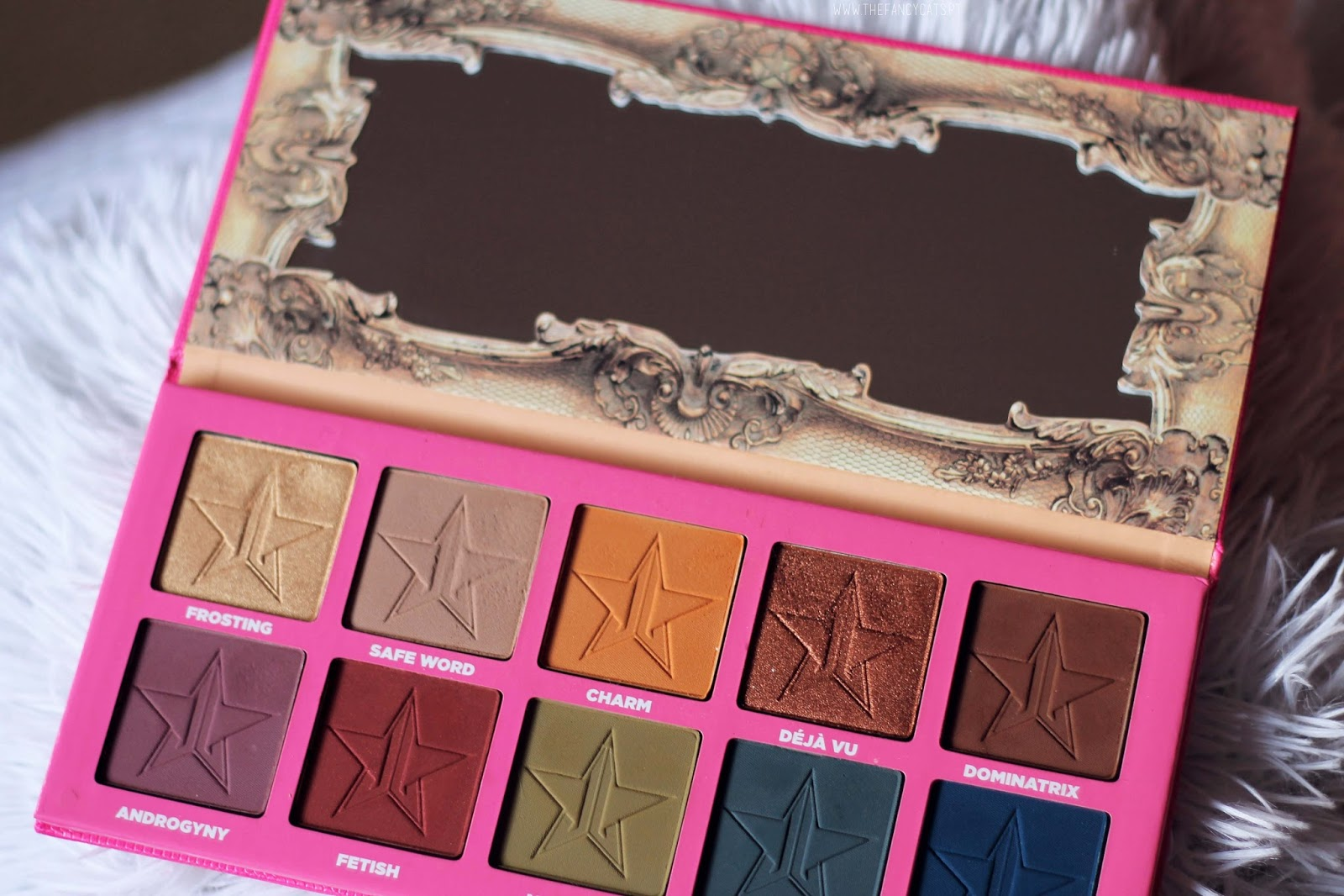 "I have this palette since July and it has become one of my favorites. Although most of the shades seem to be completely out of my typical neutrals, I use it quite regularly. In this post I'll show you swatches and talk a little about the palette in general. Like all other Jeffree Star Cosmetics products, ""Androgyny"" is vegan and cruelty-free. Click to see swatches!"
