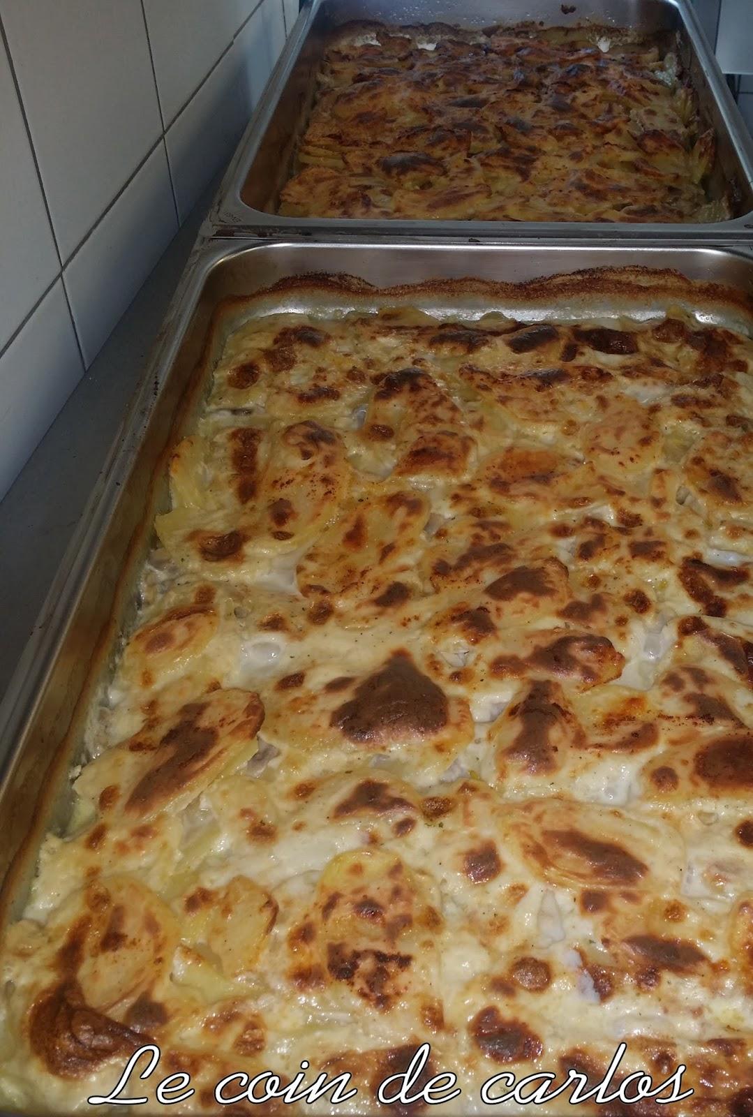 Le coin de carlos gratin de pommes de terre et champignons - Gratin de pommes de terre au four ...