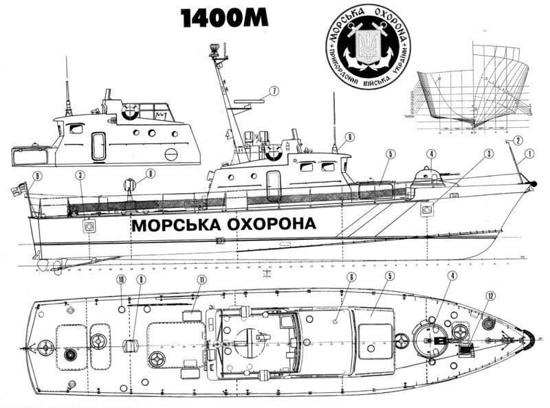 ДПСУ замовила проект модернізації катера пр. 1400М