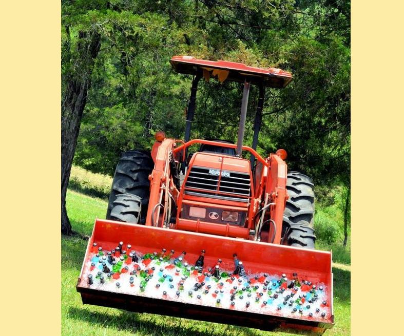 Tractor Wedding Drink Cooler