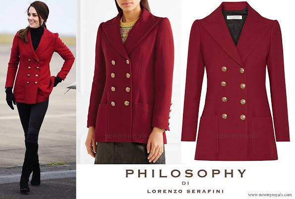 Kate Middleton wore Philosophy di Lorenzo Serafini Double-Breasted Twill Blazer