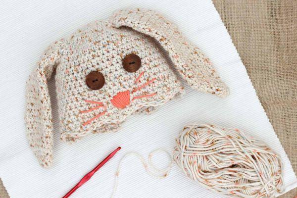 Amigurumi Conejo Paso A Paso : Cómo hacer un gorro para bebé en crochet con forma de conejo