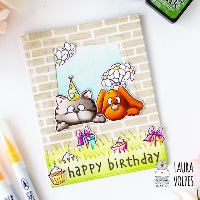 Window Birthday Card feat Gerda Steiner Designs On the Table