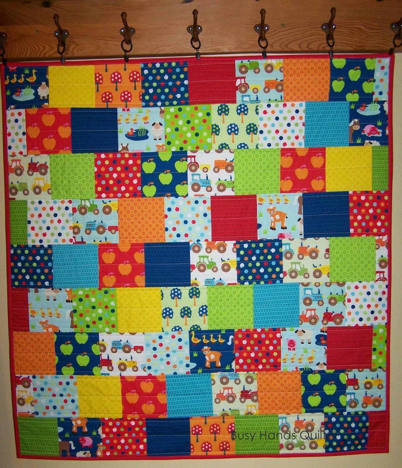 Busy Hands Quilts: Apple Hill Farm Baby Quilt {Custom Quilting} : custom photo quilts - Adamdwight.com