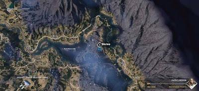 Far Cry 5, Shrines Locations, Faith's Region, East, Rock Bass Lake