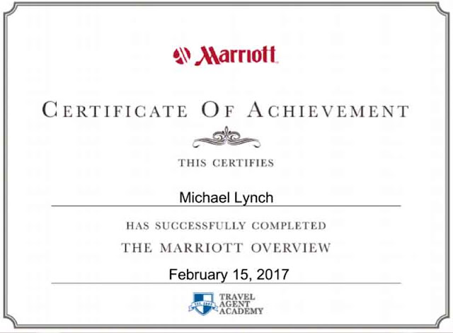 Marriott Certification, travel agent academy