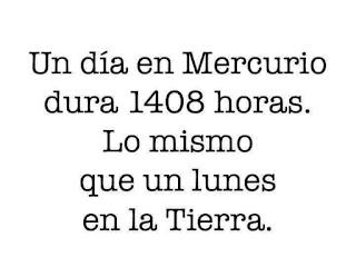 día, Mercurio, 1408 horas, lunes, Tierra