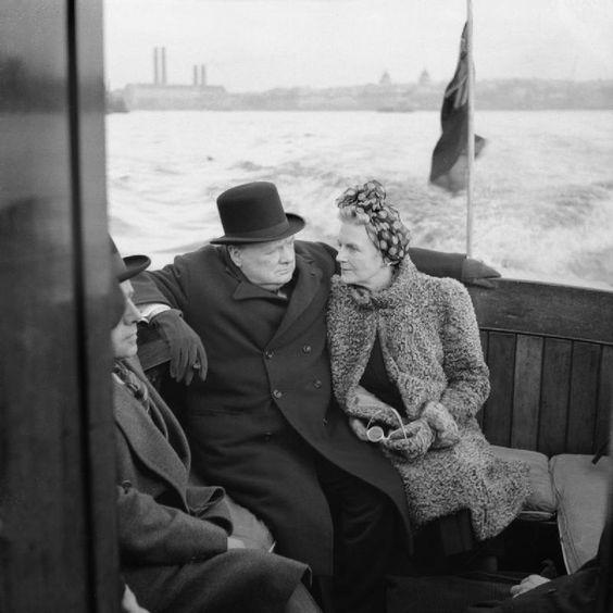 25 September 1940 worldwartwo.filminspector.com Churchill Clementine London docks