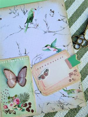 Sara Emily Barker http://sarascloset1.blogspot.com/ Prima Havana Shabby Chic Card #prima #havana #lavender #rosegoldwax #timholtz #3D embossing #botanicaltexturefade 8