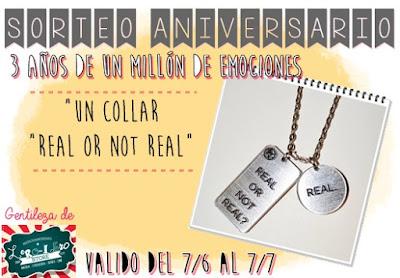 """Sorteo tercer aniversario: Un collar """"Real or not real"""""""
