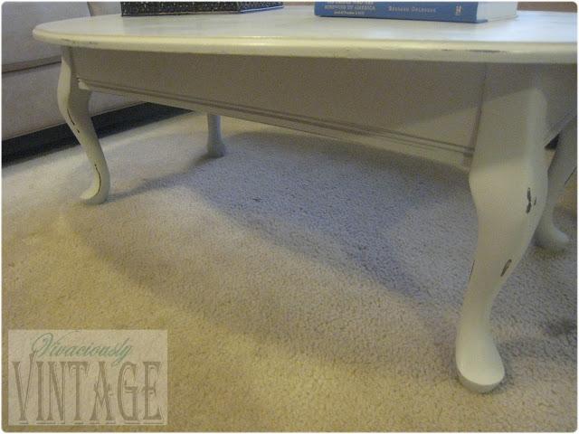 DIY vintage chalk paint coffee table
