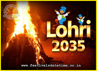 2035 Lohri Festival Date & Time, 2035 Lohri Calendar