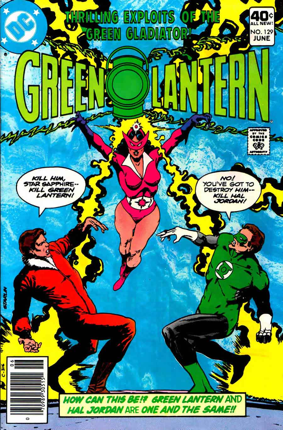 Green Lantern v2 #129 dc comic book cover art by Jim Starlin
