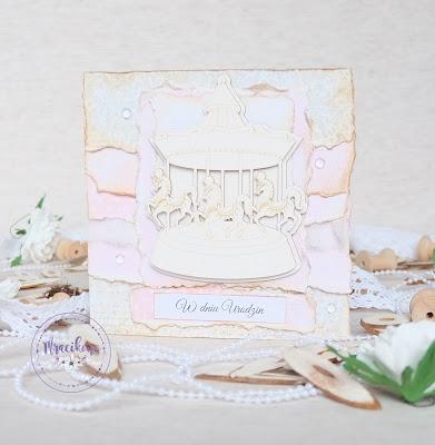 Kartka urodzinowa z karuzelą