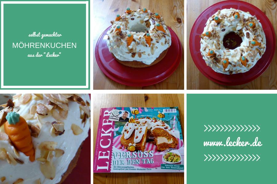 Möhrenkuchen nach Rezept aus der Zeitschrift Lecker
