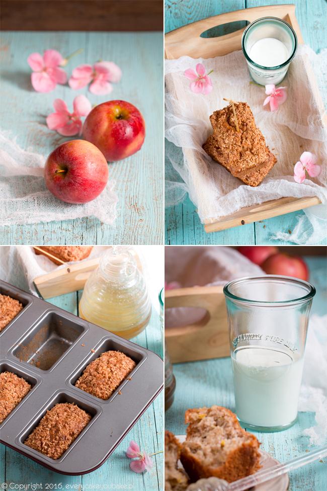 słodkie chlebki cukiniowo-jabłkowe na mące razowej