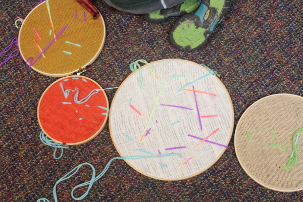image scrumdilly-do embroidery hoop sewing for children