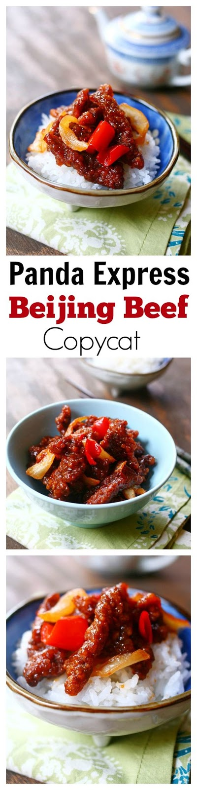 Panda Express Beijing Beef Copycat – the most delicious Beijing Beef that tastes exactly like Panda Express, but healthier and much better than takeout | rasamalaysia.com