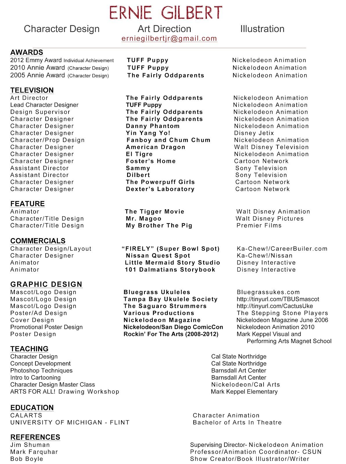 Ernie Gilbert My Resume Animation