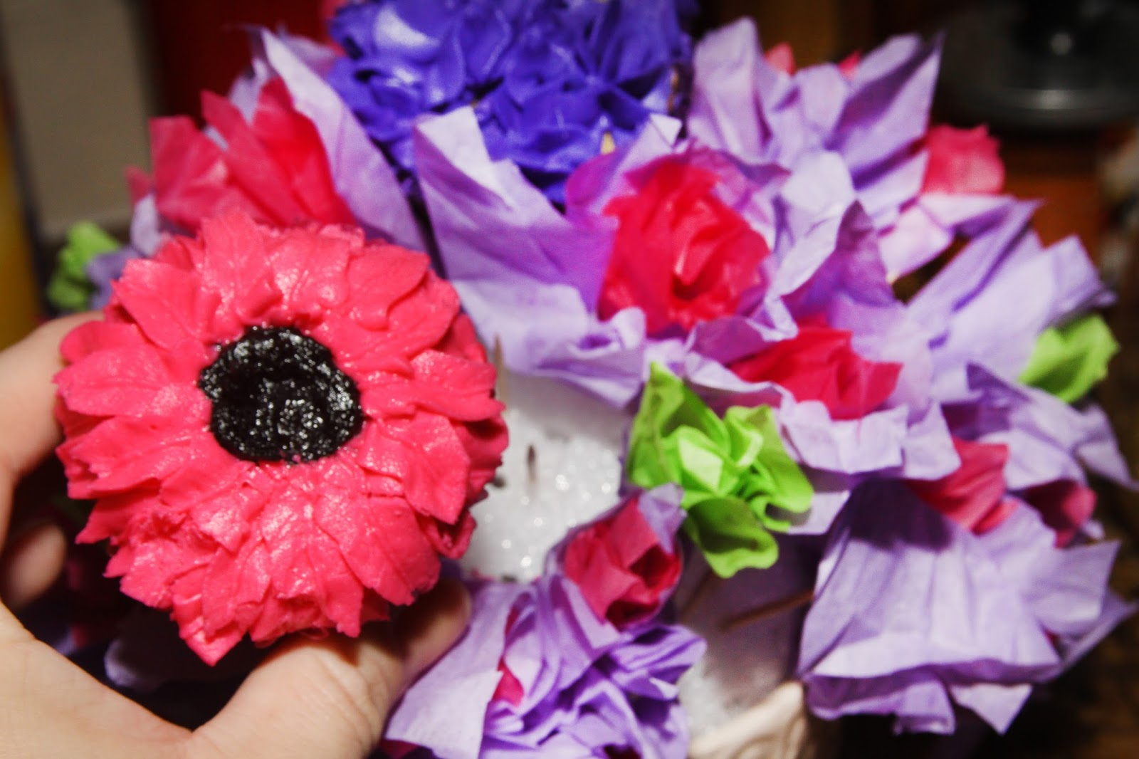For The Love Of Food Diy Flower Cupcake Bouquet