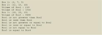 Example operators overloading