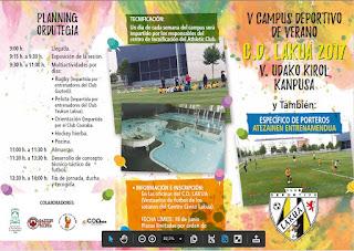 V Campus deportivo de verano CD Lakua