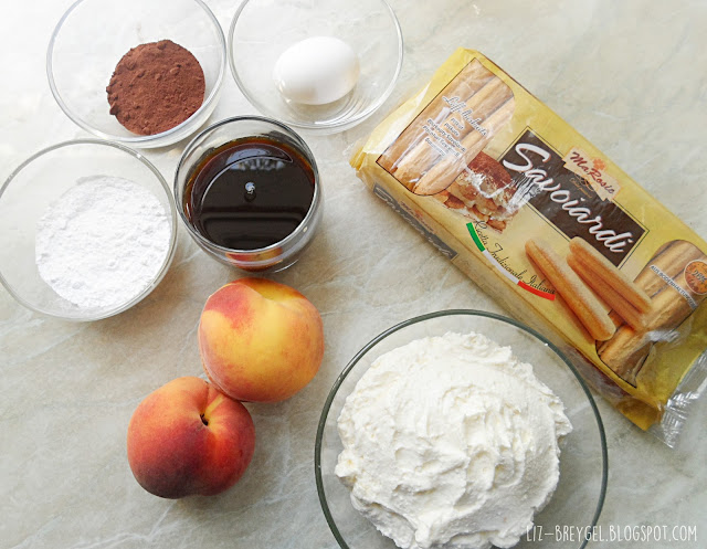 Peach Tiramisu Family Size Portion Recipe step by step instruction with pictures how to diy tiramisu summer