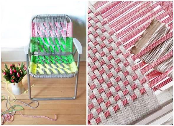 sillas cuerdas macramé, manualidades decoración, encordar sillas