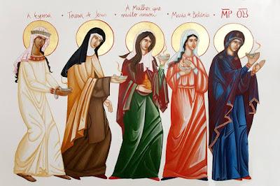 As Virgens Prudentes - Ícones para grupo de oração, seminário de vida no Espírito Santo e eventos