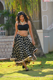 Hebah Patel in Spicy Black Choli and Ghagra HD Pics  019.jpg