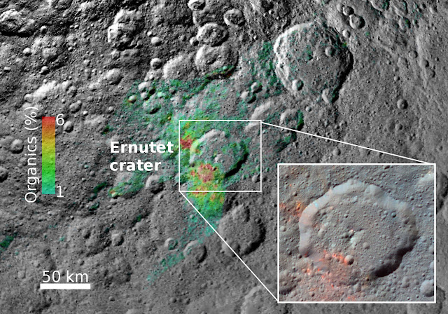 Scientists dig into the origin of organics on dwarf planet Ceres