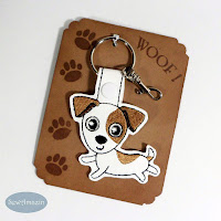 Jack Russell Terrier Dog Breed Key Fob, Purse Charm