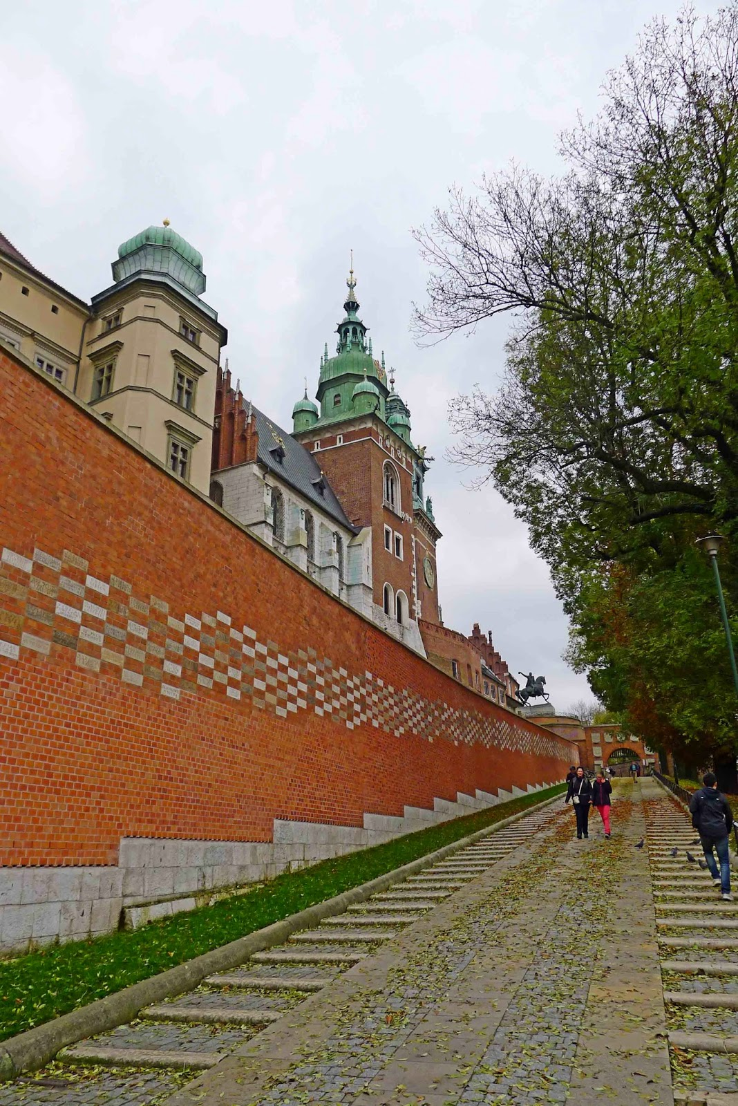Going up Wawel Hill