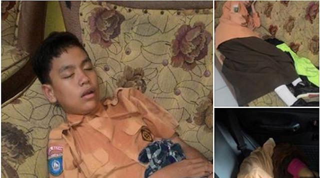 Heboh!! Foto Tiga Bocah Rebahan Ini Jadi Viral, Keringat Di Baju Jadi Bukti Protes Full Day School