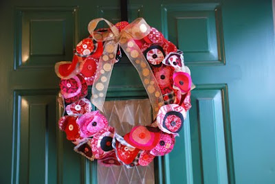 Christmas wreath fabric circles
