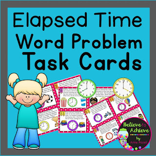 Elapsed Telling Time Task Cards