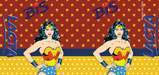 Etiquetas de Mujer Maravilla Retro para imprimir gratis.