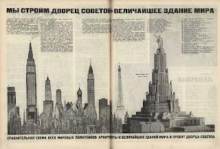 Noticia de la prensa rusa sobre el Palacio de los Soviets