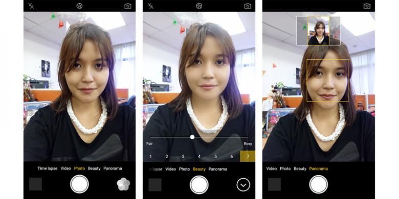 Hasil Jepretan Kamera Depan Oppo F1s dan Vivo V5
