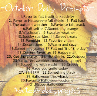 october daily prompts by serena bee