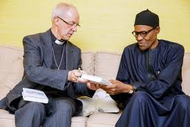 Buhari and His Grace Justin Welby