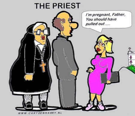 Image result for priest and nun lovers cartoon