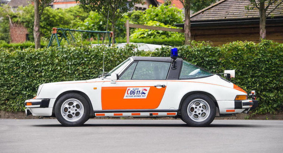 You Might Be Tempted To Use The Siren In This 1989 Porsche 911 Targa Ex-Police Car