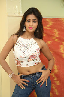 Deekshita Parvathi in a short crop top and Denim Jeans Spicy Pics Beautiful Actress Deekshita Parvathi January 2017 CelebxNext (71).JPG