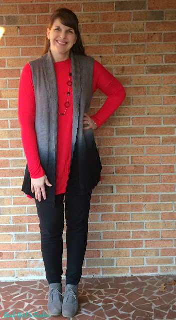 Create multiple looks from a basic tunic and leggings by adding layers and accessories!